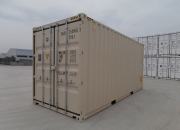 20ft high cube shipping container beige