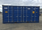 20ft high cube shipping container open sider blue