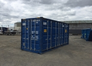 20ft high cube shipping container open sider blue 2