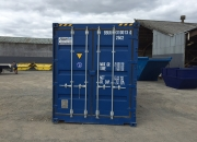 20ft high cube shipping container open sider blue end