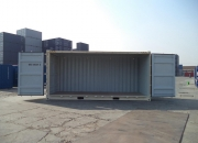 20ft high cube shipping container open sider beige doors open