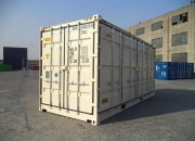 20ft high cube shipping container open sider beige