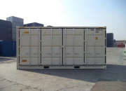 20ft shipping container open sider beige