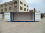20ft shipping container open sider blue doors open