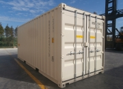 20ft shipping container double door beige