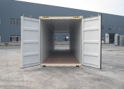 40ft shipping container high cube beige double door