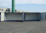 40ft shipping container high cube open sider doors open