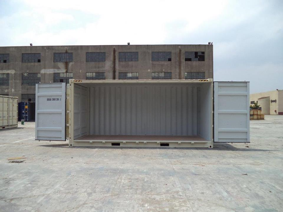 Open Sider Shipping Container Storage Depot