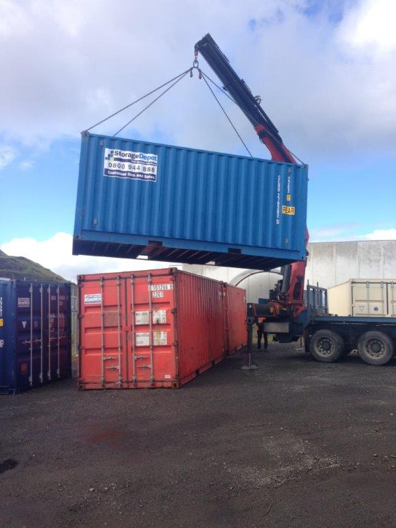 Shipping Container Transport Hiab Storage Depot