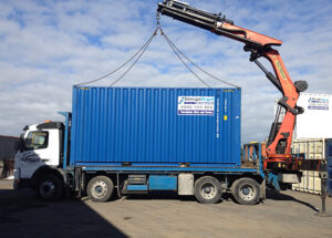 shipping container transport hiab