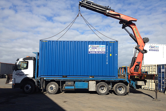 shipping container transport storage depot. Black Bedroom Furniture Sets. Home Design Ideas