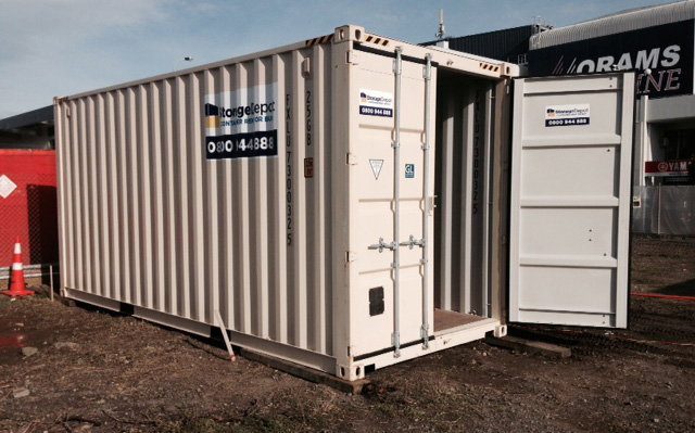 Storage Depot shipping container onsite storage