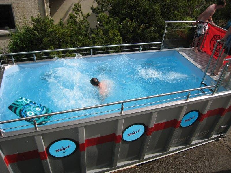 Shipping Container Swimming Pool Storage Depot