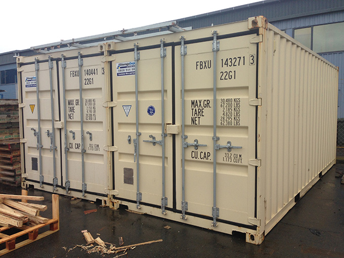 Open Sider Containers Perfect For Temporary Shop Storage